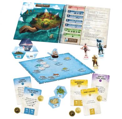 Društvena igra Forgotten Waters komponente