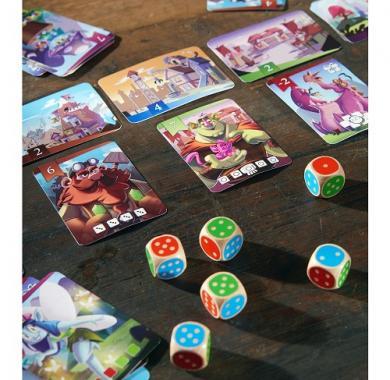 Edukativna igra king of the dice, kralj kockica, haba, Detalj