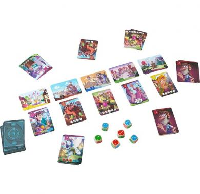 Edukativna igra king of the dice, kralj kockica, haba, postavka igre