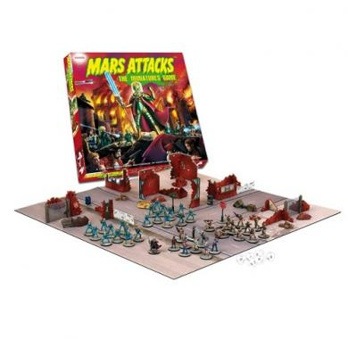 Drustvena igra Mars Attacks Miniature game, postavka