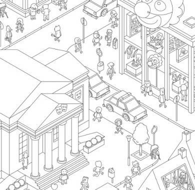 Društvena igra MicroMacro Crime City detalj iz igre
