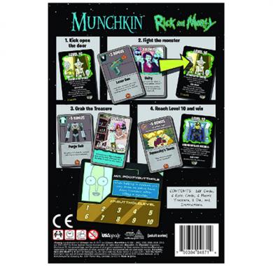 Munchkin Rick and Morty, Drustvena igra, porodicna igra, igra za poklon, zabava, poklon, beograd, srbija, online prodaja drustvenih igara