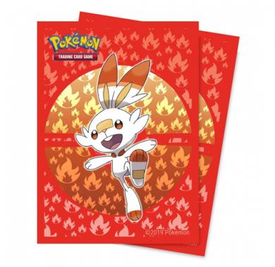 Ultra Pro Pokémon Sword & Shield Galar Starters Scorbunny Deck Protector 65ct (zaštite za karte), zastita za karte, naličje
