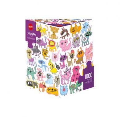 Puzzle HEYE Doodlecats, slagalica, puzzle, zabavne igre, porodične igre,Games4you, društvene igre,party igre,board igre, igre za poklon