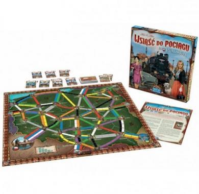 Ticket to Ride Poland, Drustvena igra, porodicna igra, igra za poklon, zabava, poklon, beograd, srbija, online prodaja drustvenih igara