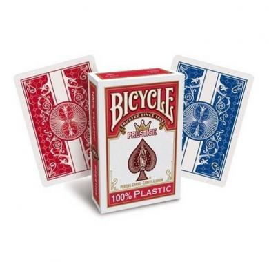 Bicycle Prestige Jumbo Index 100% Plastic Red, karte za poker , beograd, karte za igranje, poker