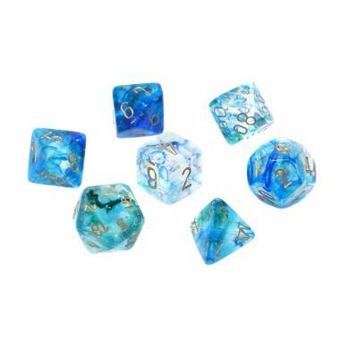 Dungeons & Dragons Chessex Nebula Oceanic with Gold Luminary kockice