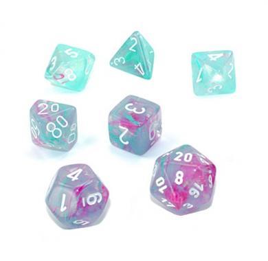 Dungeons & Dragons Chessex Nebula Wisteria with White Luminary kockice