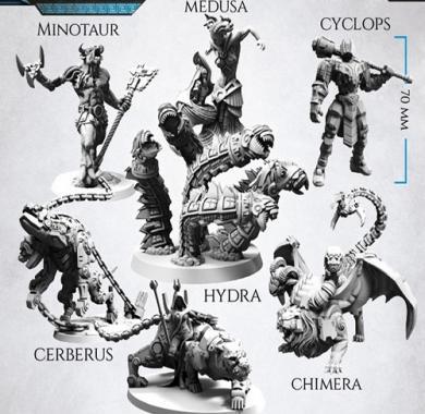 Drustvena igra Lords of Hellas, minijature