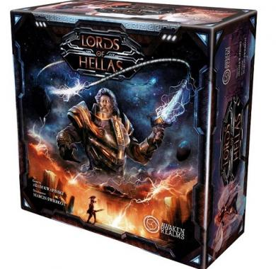 Drustvena igra Lords of Hellas, minijature, kutija